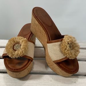 Coach Jazmin Slides Cork Wedge